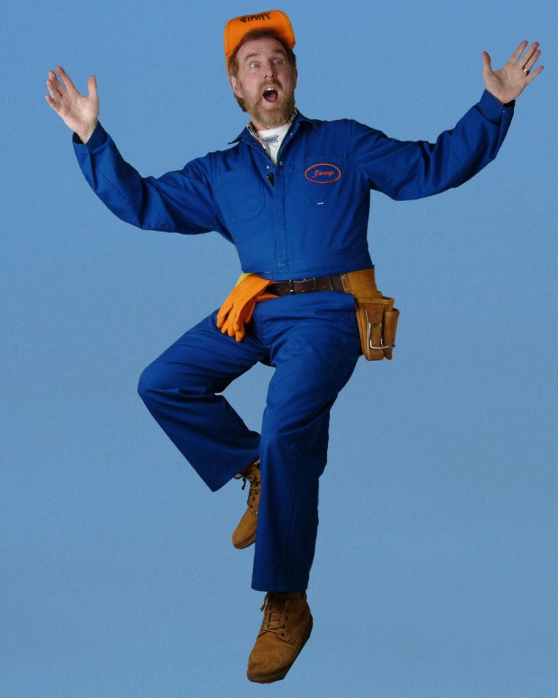 Jimmy Blue background pose 1